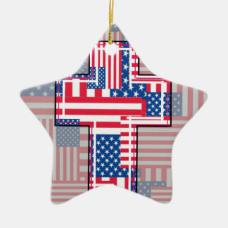 The American Religious Patriot Christmas Tree Ornaments