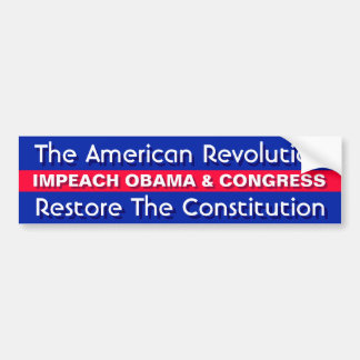 THE AMERICAN REVOLUTION,RESTORE THE CONSTITUTION BUMPER STICKER