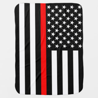 The American Thin Red Line Symbol Baby Blanket