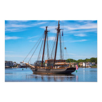 The Amistad Departs Mystic Photo Print