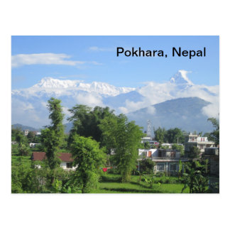 The Anapurnas from Pokhara Postcard