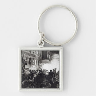 The Anarchist Riot in Chicago Keychain