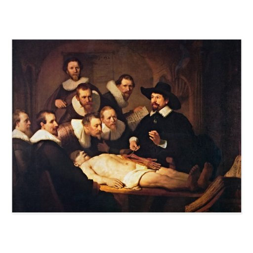The Anatomy Lecture by Rembrandt Postcards
