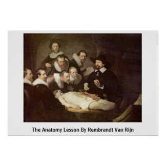 The Anatomy Lesson By Rembrandt Van Rijn Poster