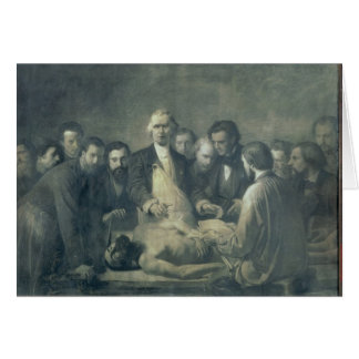 The Anatomy Lesson of Doctor Velpeau Card
