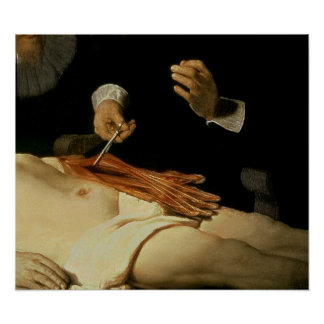 The Anatomy Lesson of Dr. Nicolaes Tulp, 1632 Posters