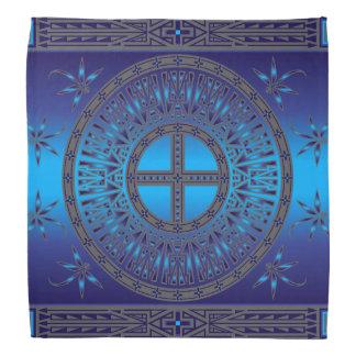 The Ancestors (Dragonfly) Blue Bandana