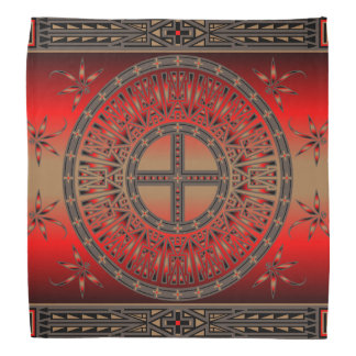 The Ancestors (Dragonfly) Red Bandana