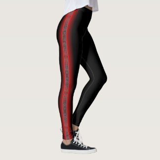 The Ancestors (Dragonfly) Red Leggings