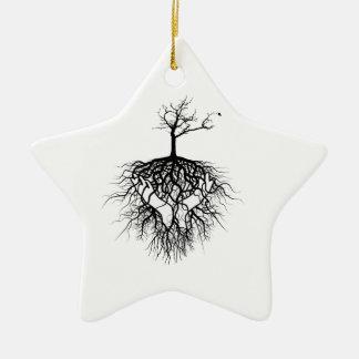 The ancestors got you! ceramic star ornament