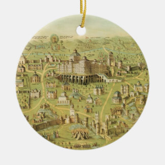 The Ancient City of Jerusalem & Solomon's Temple Ceramic Ornament