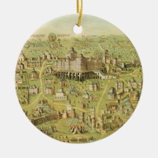 The Ancient City of Jerusalem & Solomon's Temple Ceramic Ornament