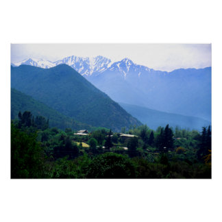 The Andes Mountains in Chile Poster