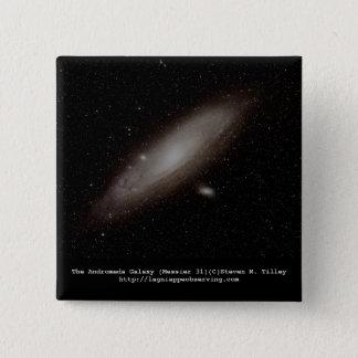 The Andromeda Galaxy (M31) 2 Inch Square Button