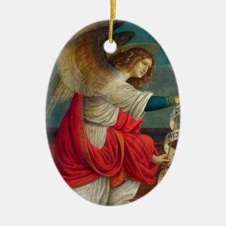 The Angel Gabriel - Gaudenzio Ferrari Ceramic Oval Ornament