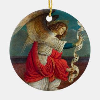 The Angel Gabriel - Gaudenzio Ferrari Round Ceramic Ornament
