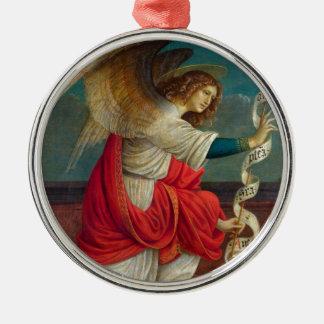 The Angel Gabriel - Gaudenzio Ferrari Silver-Colored Round Ornament