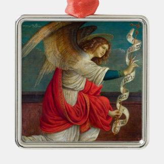 The Angel Gabriel - Gaudenzio Ferrari Silver-Colored Square Ornament