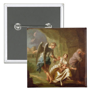The Angel of Mercy, c.1746 (oil on canvas) 2 Inch Square Button