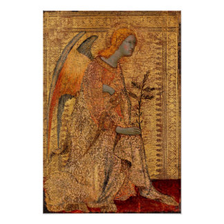 The Angel of the Annunciation by Simone Martini Poster