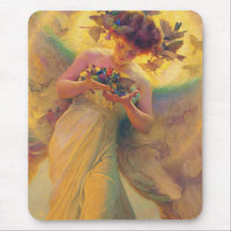 The Angel of the Birds Franz Dvorak 1910 Mouse Pad