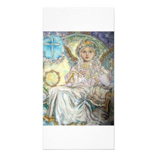 The angel of the Christmas rose. Photo Cards