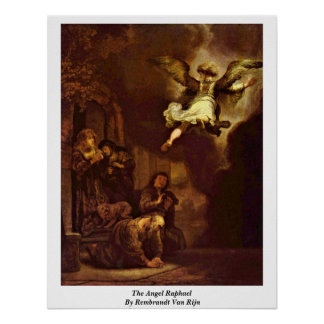 The Angel Raphael By Rembrandt Van Rijn Print