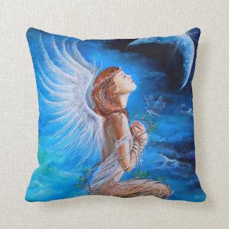 The Angel's Prayer Throw Pillow