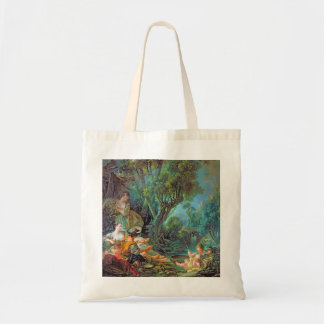 The Angler Boucher Francois rococo scene painting Canvas Bag