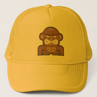The Angry Donkey Monkey - Customizable Background Trucker Hat