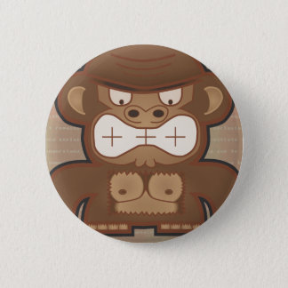 The Angry Donkey Monkey - Muted 2 Inch Round Button