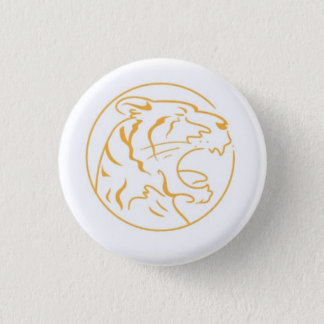The angry orange tiger round button