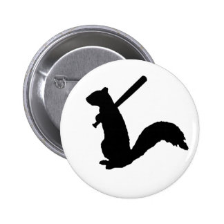 The Angry Squirrel 2 Inch Round Button