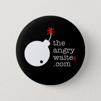 The Angry Waiter Button - Black