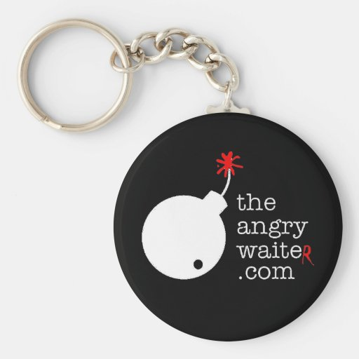 The Angry Waiter KeyChain - Black
