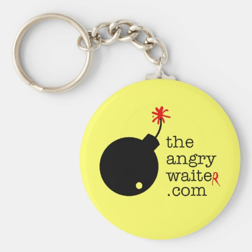 The Angry Waiter KeyChain - Yellow