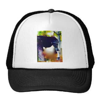 The Animal with the Striped Leg Trucker Hat