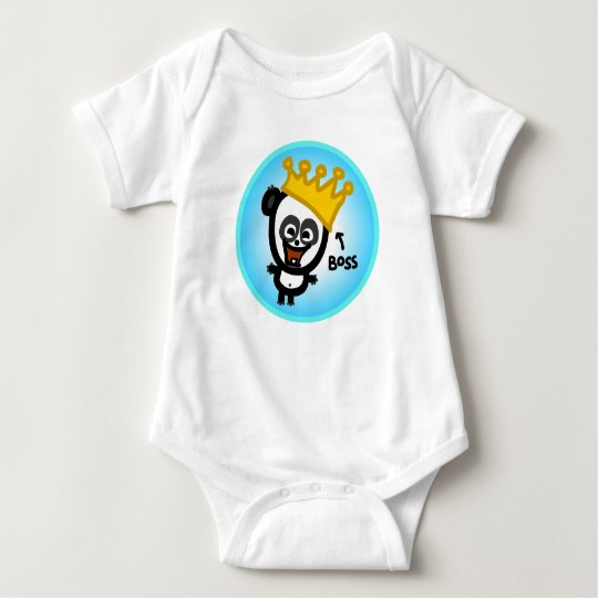 The Animated Baby - Boss Panda Baby Bodysuit