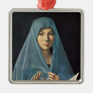 The Annunciation, 1474-75 Silver-Colored Square Ornament