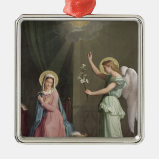 The Annunciation, 1859 Silver-Colored Square Ornament