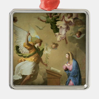 The Annunciation, before 1652 Silver-Colored Square Ornament
