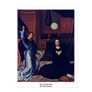 The Annunciation By David Gerard Postcard