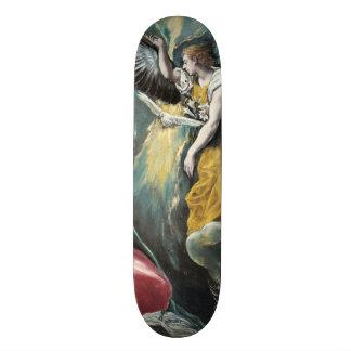 The Annunciation by El Greco Skateboard
