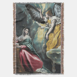 The Annunciation by El Greco Throw Blanket