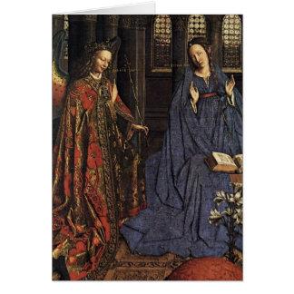 The Annunciation by Jan van Eyck Card