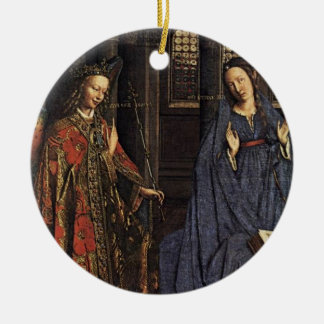 The Annunciation by Jan van Eyck Ceramic Ornament
