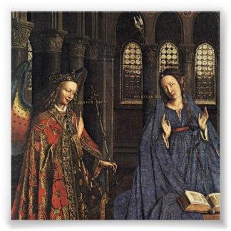 The Annunciation by Jan van Eyck Photo Print