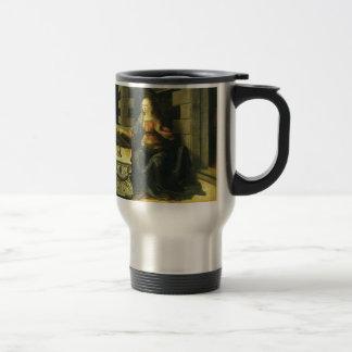 The Annunciation by Leonardo da Vinci 15 Oz Stainless Steel Travel Mug