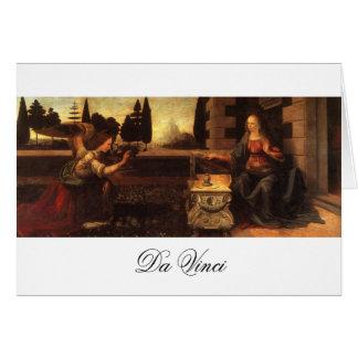 The Annunciation by Leonardo Da Vinci c. 1472-1475 Card