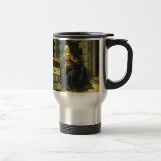 The Annunciation by Leonardo da Vinci Stainless Steel Travel Mug